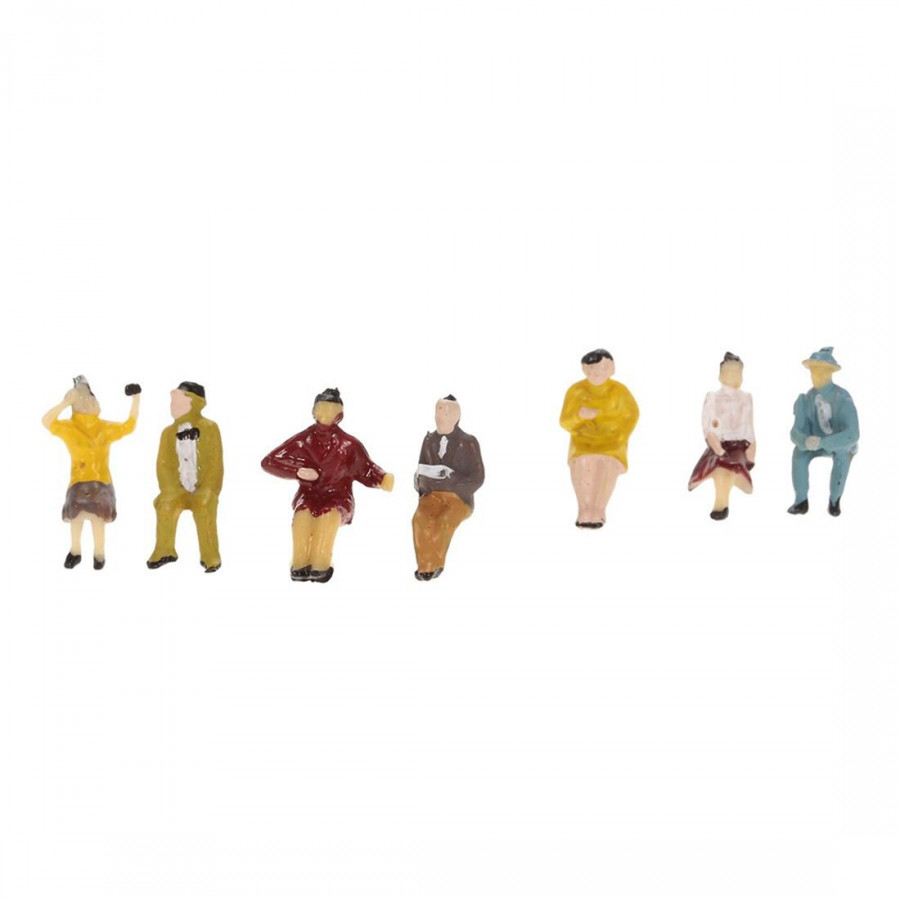 30 Proportion Model Coloured Drawing Or Pattern, Train Passengers
