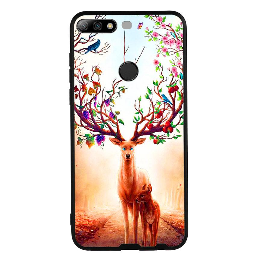 Ốp Lưng Viền TPU cho điện thoại Huawei Y7 Prime 2018 -Deer 01