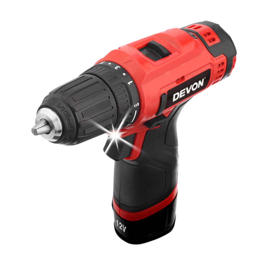 Devon 12V multi-function rechargeable lithium drill 5268 industrial grade two-speed hand drill