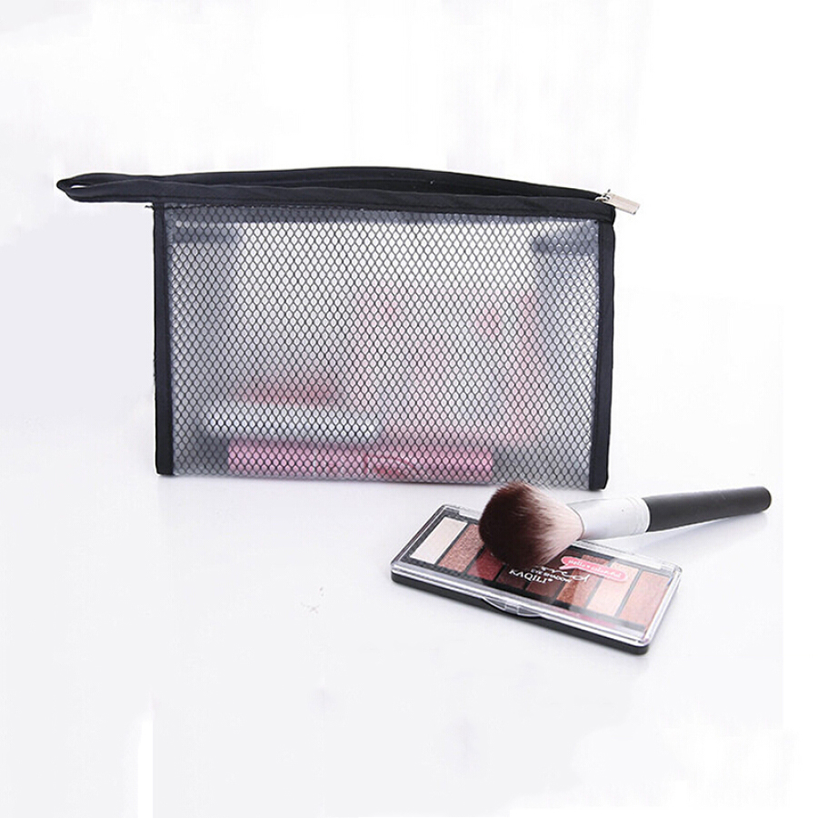 Ke Rui Wei Kerier Black Grid Storage Bag Multifunction Transparent Cosmetic Bag Unisex Travel Travel Scrub Bag Large Capacity Waterproof Makeup...