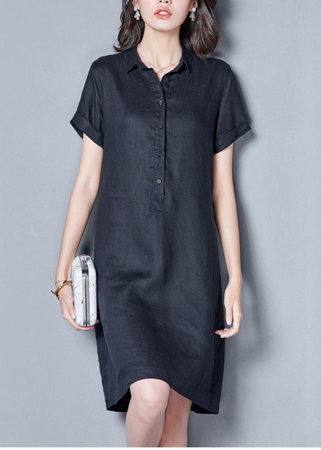 Đầm suông cổ đức bổ trụ ngắn tay - DS100