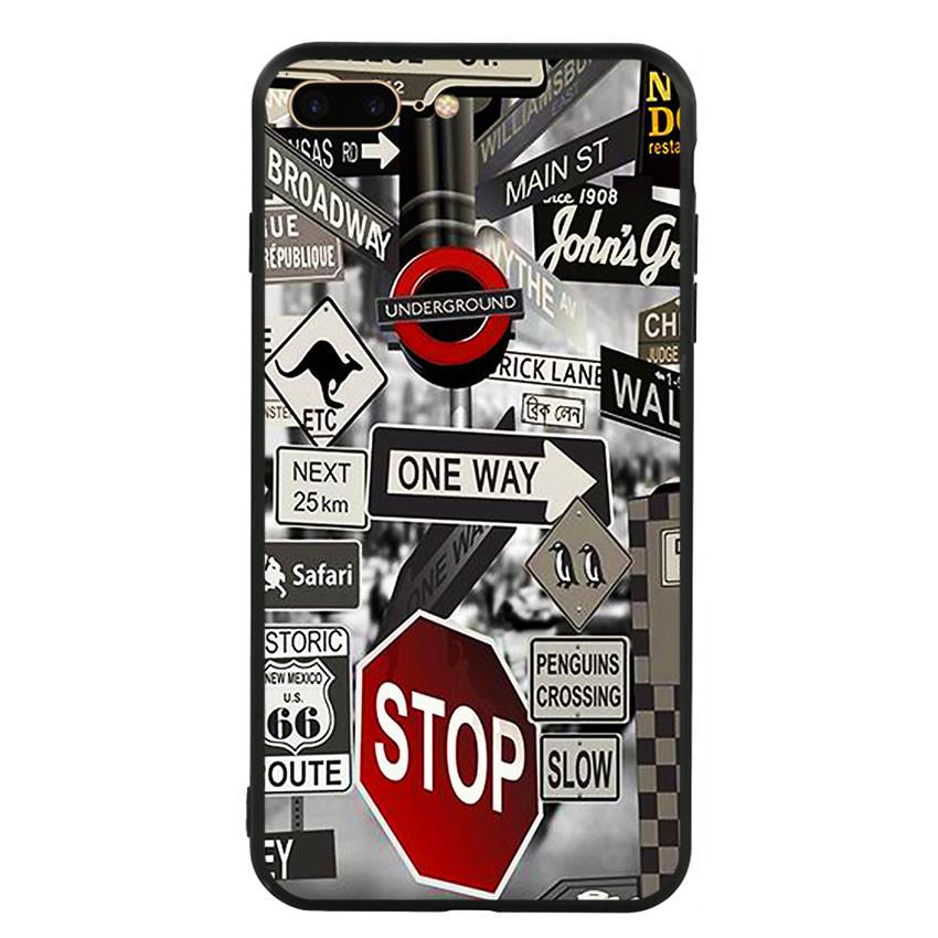 Ốp lưng viền TPU cho điện thoại Iphone 7 Plus/8 Plus -Street 01