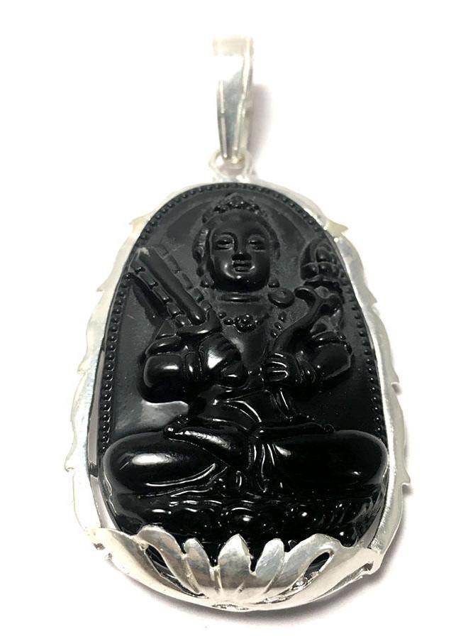 Mặt dây chuyền nam bản mệnh ngài Hư Không Tạng màu đen bọc đài sen bạc cho người tuổi Sửu - Tuổi Dần Bạc QTJ... - 1895848 , 1010437772578 , 62_14529456 , 499000 , Mat-day-chuyen-nam-ban-menh-ngai-Hu-Khong-Tang-mau-den-boc-dai-sen-bac-cho-nguoi-tuoi-Suu-Tuoi-Dan-Bac-QTJ...-62_14529456 , tiki.vn , Mặt dây chuyền nam bản mệnh ngài Hư Không Tạng màu đen bọc đài sen