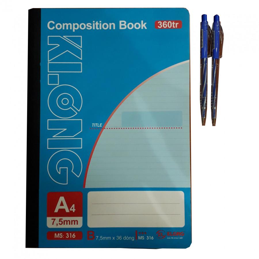 Combo sổ A4 KL 360tr + 2 bút bi TL - 777880 , 6106553621502 , 62_11386357 , 67000 , Combo-so-A4-KL-360tr-2-but-bi-TL-62_11386357 , tiki.vn , Combo sổ A4 KL 360tr + 2 bút bi TL