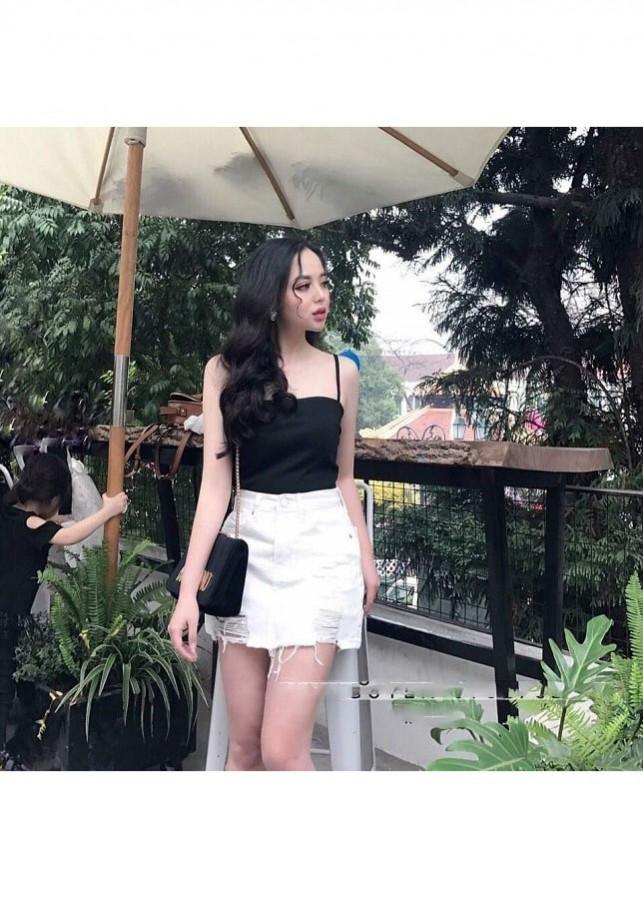 Chân Váy Jean Rách Lai