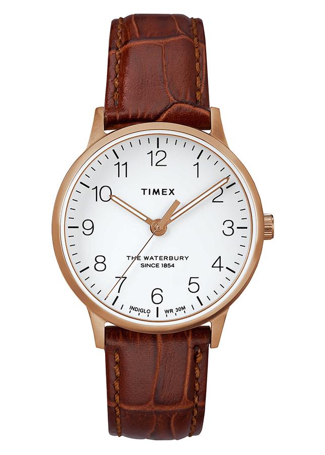 Đồng Hồ Dây Da Nữ Timex Waterbury Classic 36mm - TW2R72500