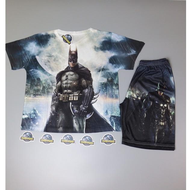 Bộ Quần Áo Trẻ Em In 3D Batman siêu anh hùng TP0025