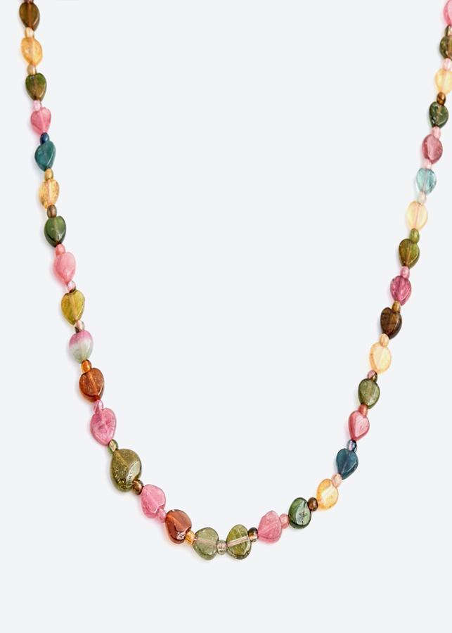 Dây chuyền tinh thể đá Tourmaline đa sắc Ngọc Quý Gemstones