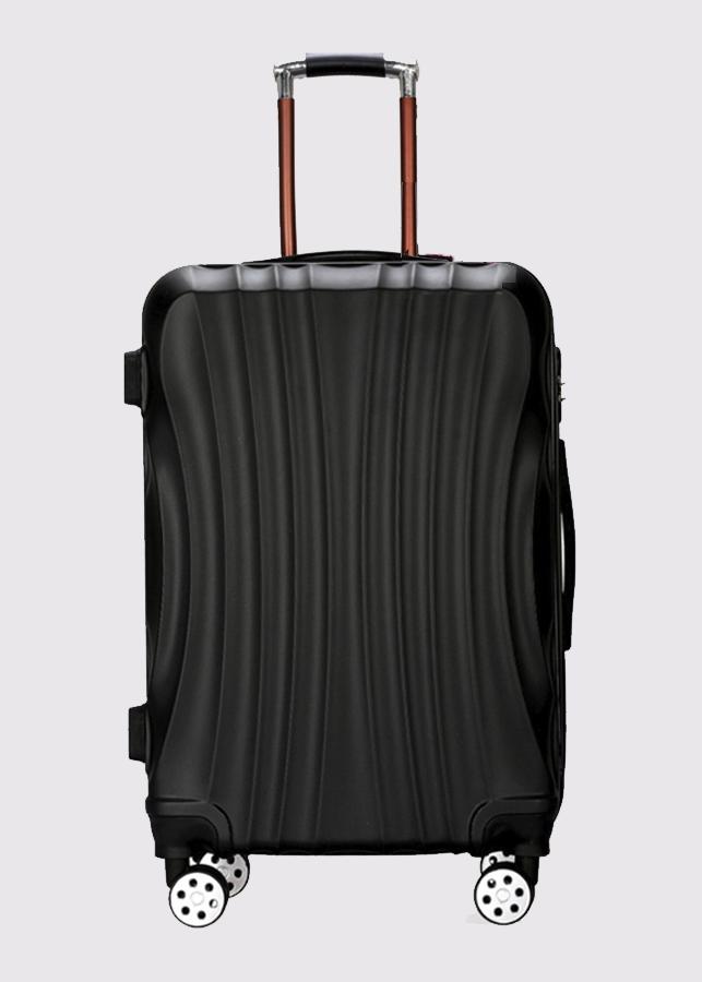 Vali du lịch nhựa sọc bầu (vote) Tặng 3 phụ kiện
