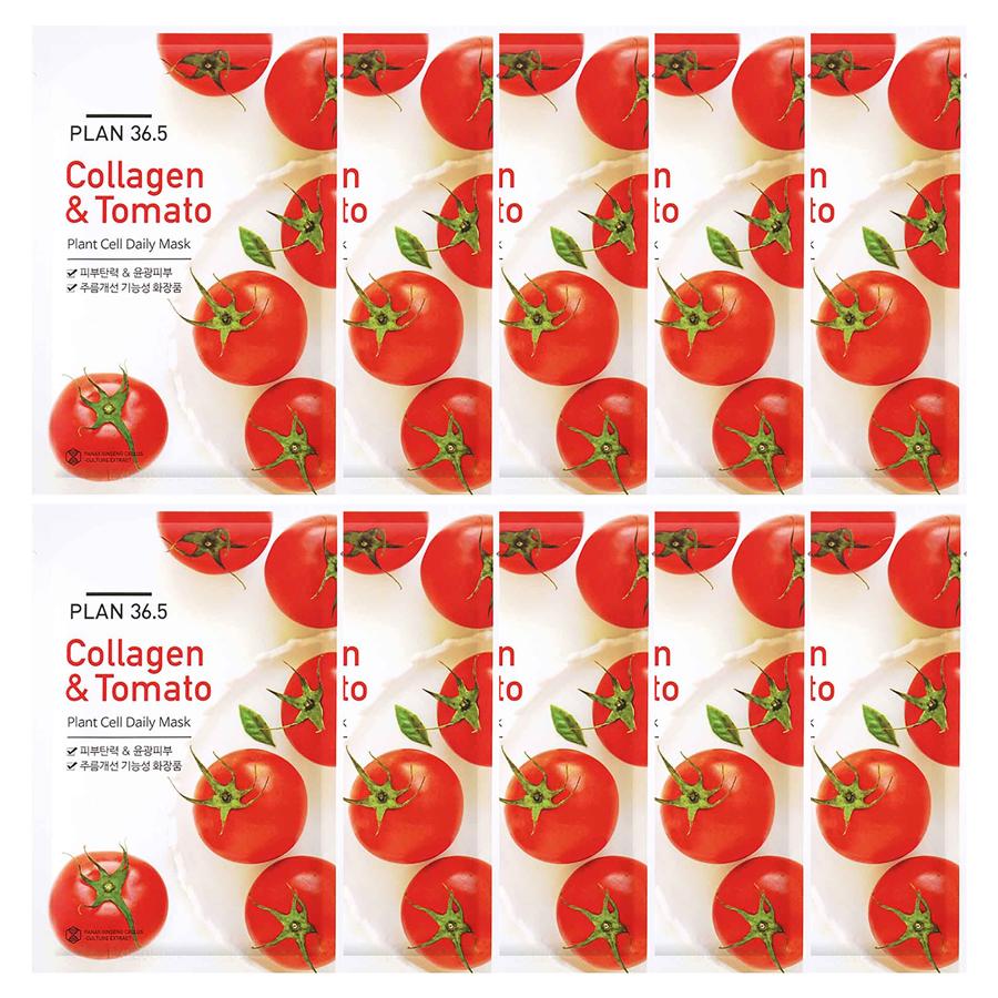 Mặt Nạ Cà Chua Plan36.5 Plant Cell Daily Mask Collagen Và Tomato (10 Miếng) - 1573956 , 2658361351309 , 62_12131560 , 400000 , Mat-Na-Ca-Chua-Plan36.5-Plant-Cell-Daily-Mask-Collagen-Va-Tomato-10-Mieng-62_12131560 , tiki.vn , Mặt Nạ Cà Chua Plan36.5 Plant Cell Daily Mask Collagen Và Tomato (10 Miếng)