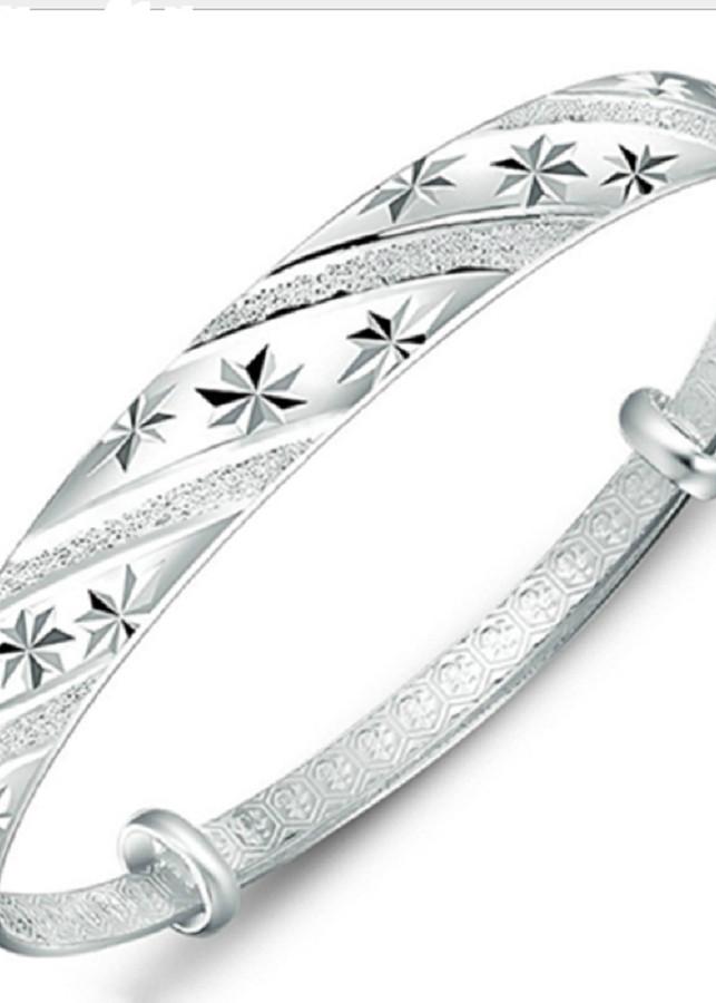 vòng tay bạc phong cách sang trọng-vt002