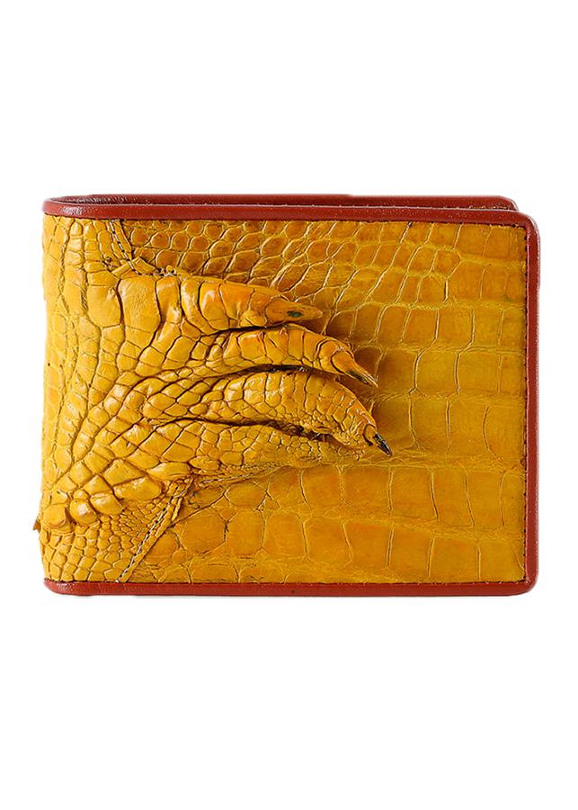 Ví Nam Da Cá Sấu Gù Chân Huy Hoàng HT2754 - Vàng Nghệ