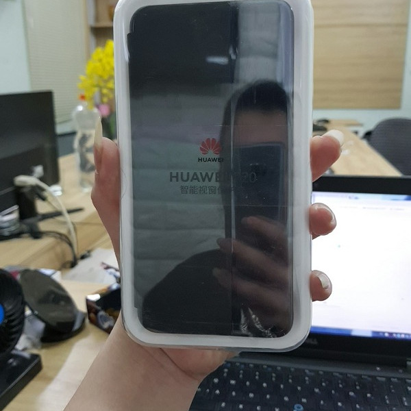 Bao da S View cho Huawei Mate 20X chính hãng Huawei - Đen