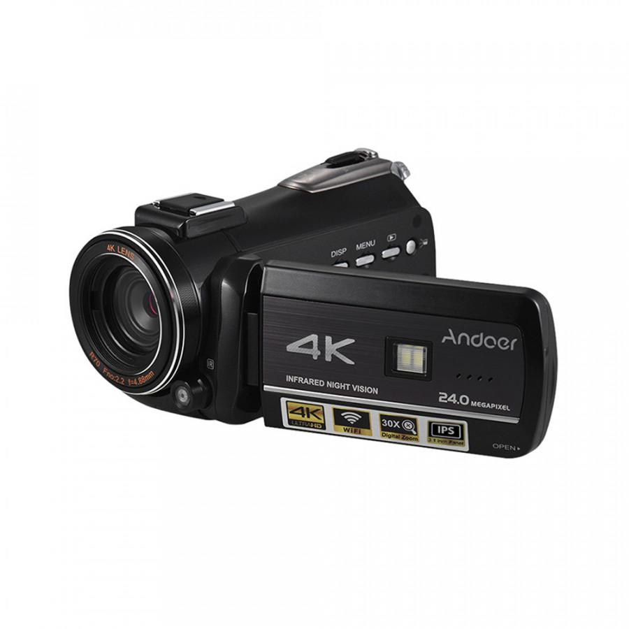 Máy Quay Video Kỹ Thuật Số 4K UHD Andoer AC3 Kèm Máy Ghi Âm DV (24MP)