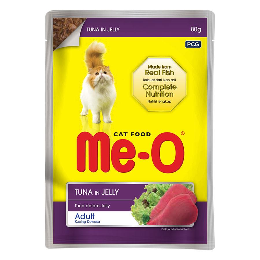 Đồ Ăn Mèo Sốt Me-O Hương Vị Cá Ngừ (80g)