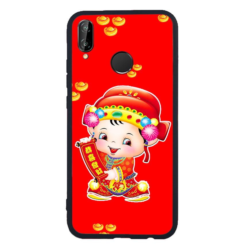 Ốp Lưng Viền TPU cho điện thoại Huawei Nova 3e - Thần Tài 05