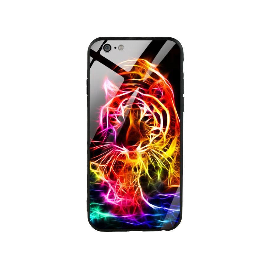 Ốp lưng kính cường lực cho điện thoại Iphone 6/6s - Tiger