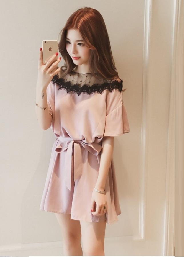 1979133579969 - Váy đầm công chúa kèm đai chất vải đanh mịn không xù không nhăn