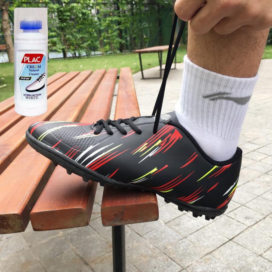Giày bóng đá cao cấp M01- Màu đen- Tặng bình làm sạch giày cao cấp