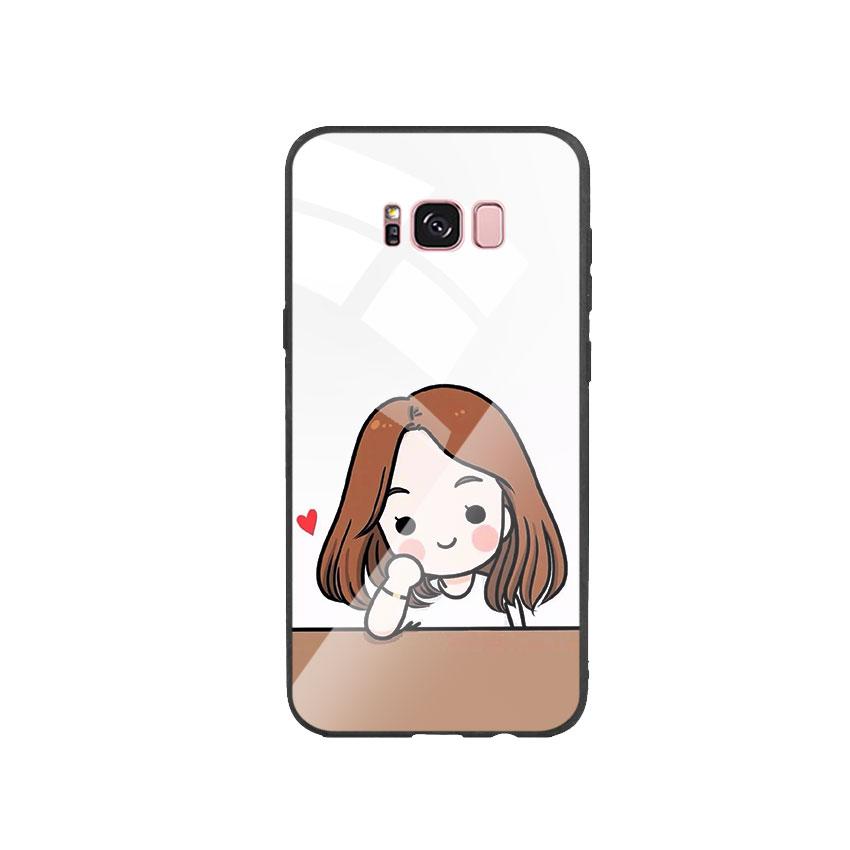 Ốp Lưng Kính Cường Lực cho điện thoại Samsung Galaxy S8 Plus - Couple Girl 03