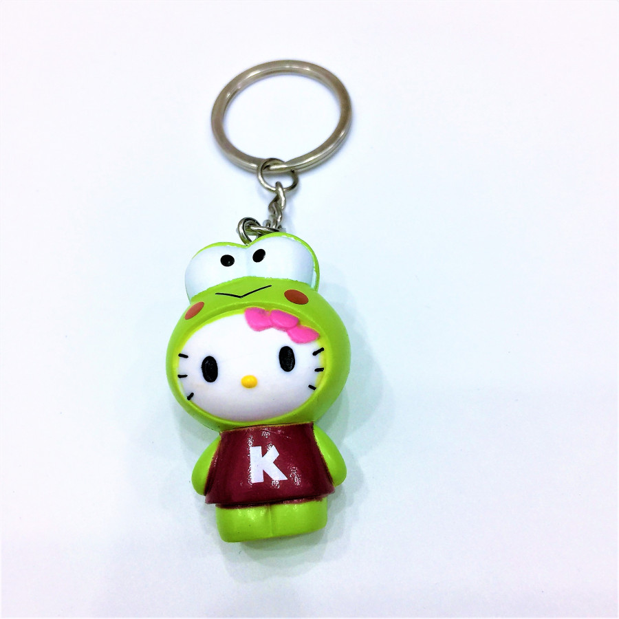 Móc khóa hình mèo mắt ếch xanh lá đáng yêu - 0.5COUPLE