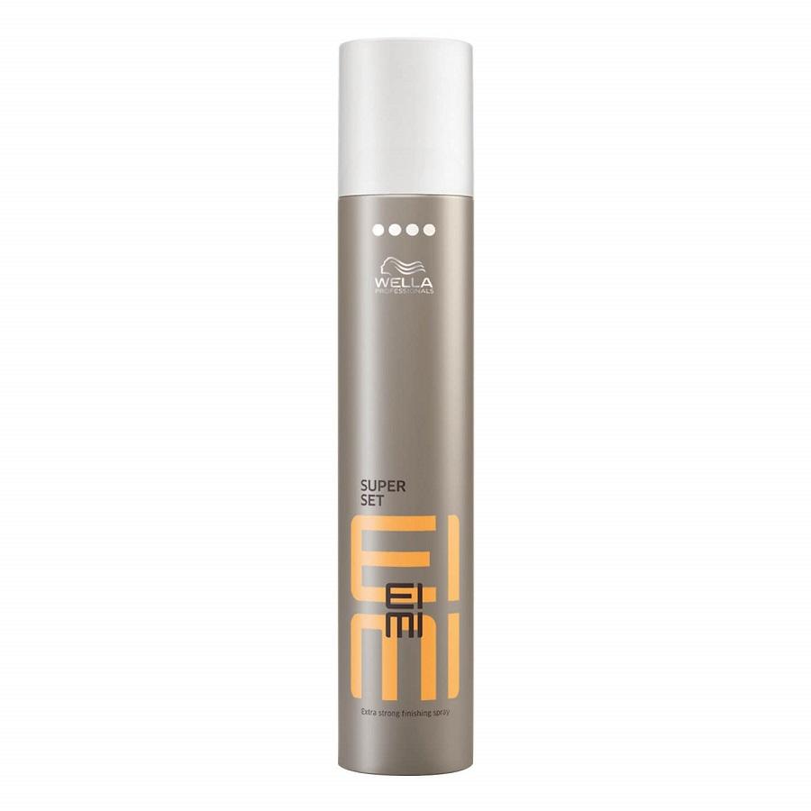 Keo xịt hoàn thiện định hình tóc Wella Professionals Super Set EIMI Extra Strong Finishing Spray 500ml