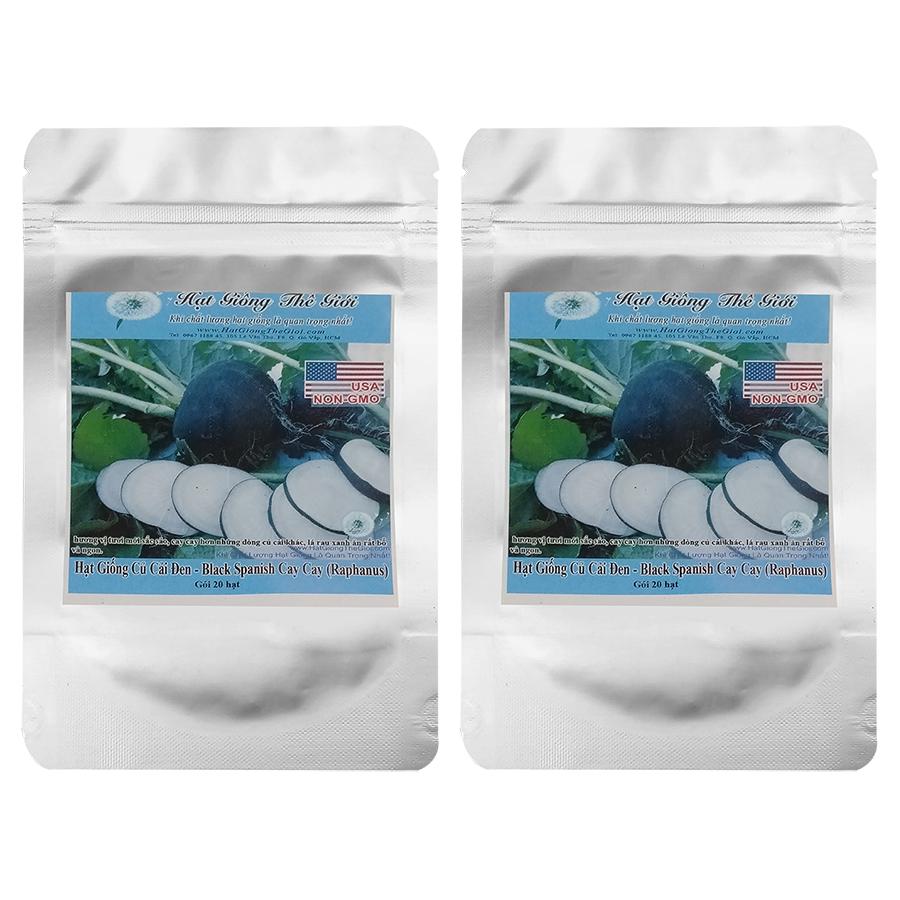 Bộ 2 túi 20h Hạt Giống Củ Cải Đen - Black Spanish Cay Cay (Raphanus sativus) - 4837531 , 4428431812386 , 62_15684051 , 51000 , Bo-2-tui-20h-Hat-Giong-Cu-Cai-Den-Black-Spanish-Cay-Cay-Raphanus-sativus-62_15684051 , tiki.vn , Bộ 2 túi 20h Hạt Giống Củ Cải Đen - Black Spanish Cay Cay (Raphanus sativus)