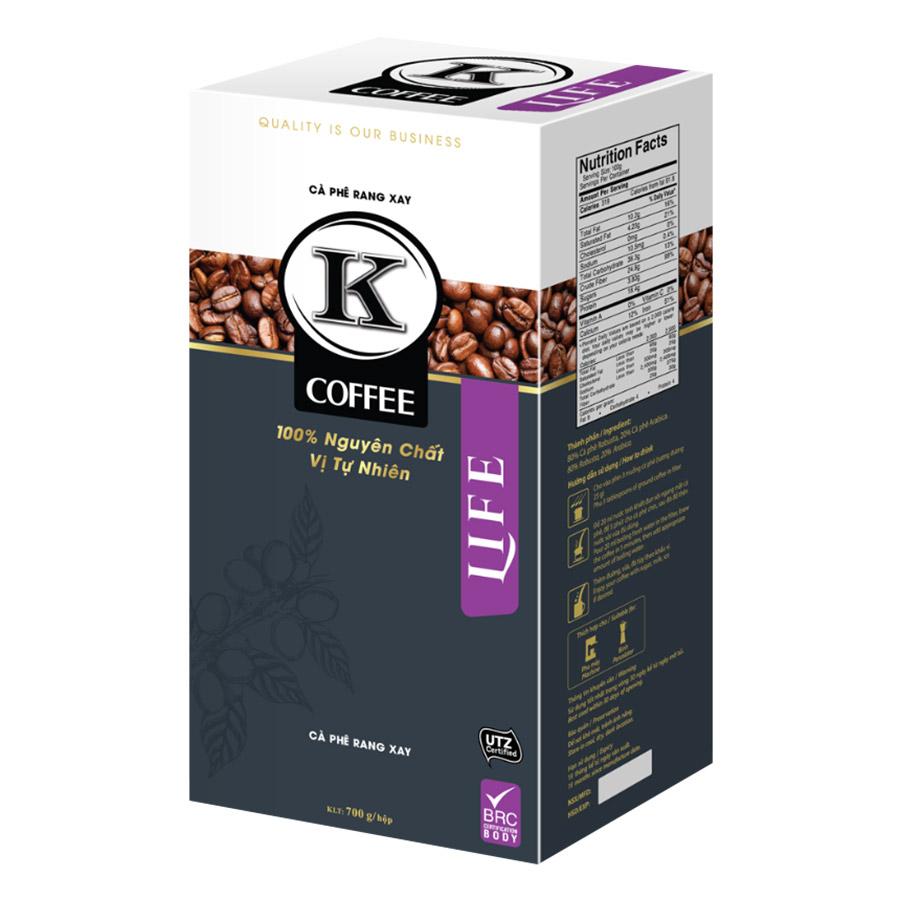 Cà Phê Rang Xay K-Coffee Life (700g / Hộp)