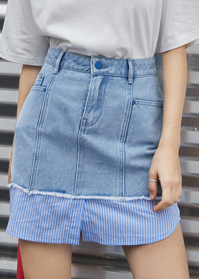 Chân Váy Jeans Chữ A PASS 6821735015
