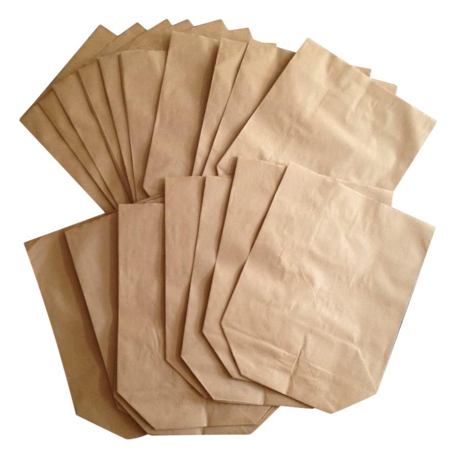 Bộ 100 Túi Giấy Xi Măng Gói Hàng Tiêu Chuẩn Giấy Kraf Loại Dày (30 x 15 cm)