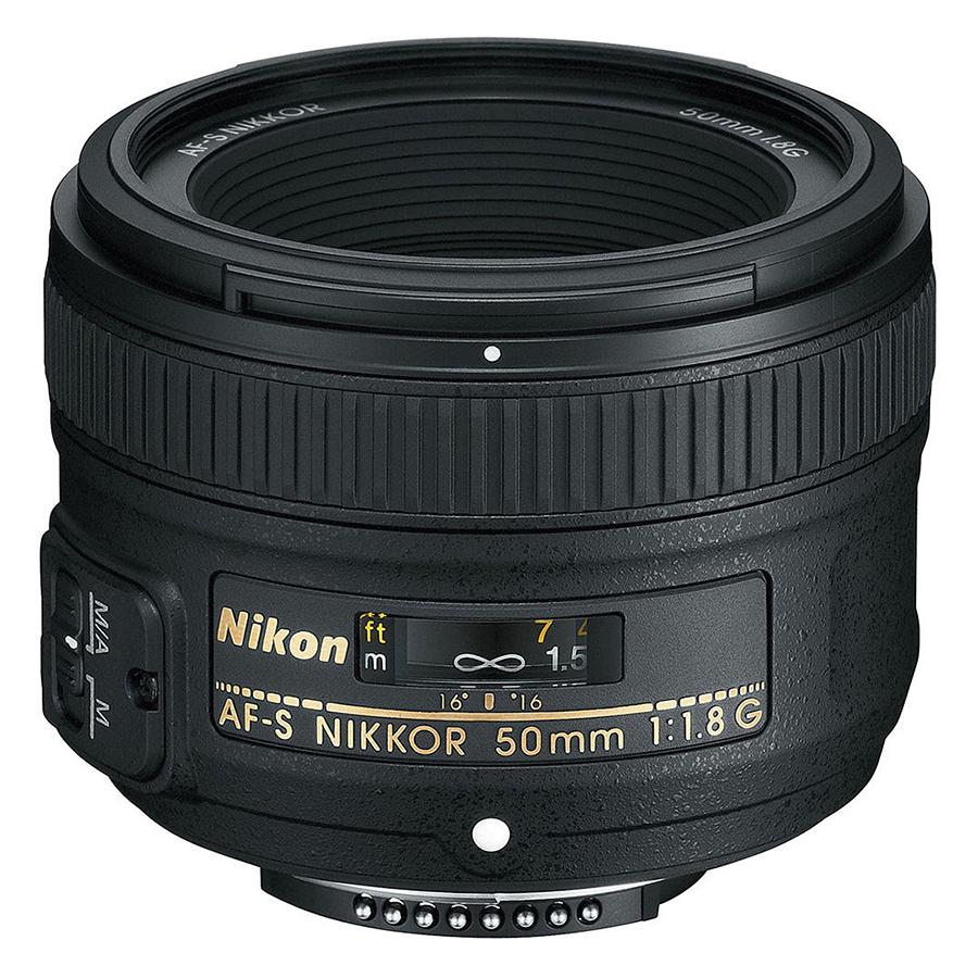 Lens Nikon 50mm F/1.8G (Hàng Nhập Khẩu) - Tặng Tấm Da Cừu Lau Ống Kính
