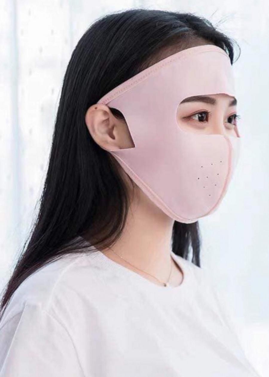 Khẩu trang chống nắng Ninja-màu hồng đất