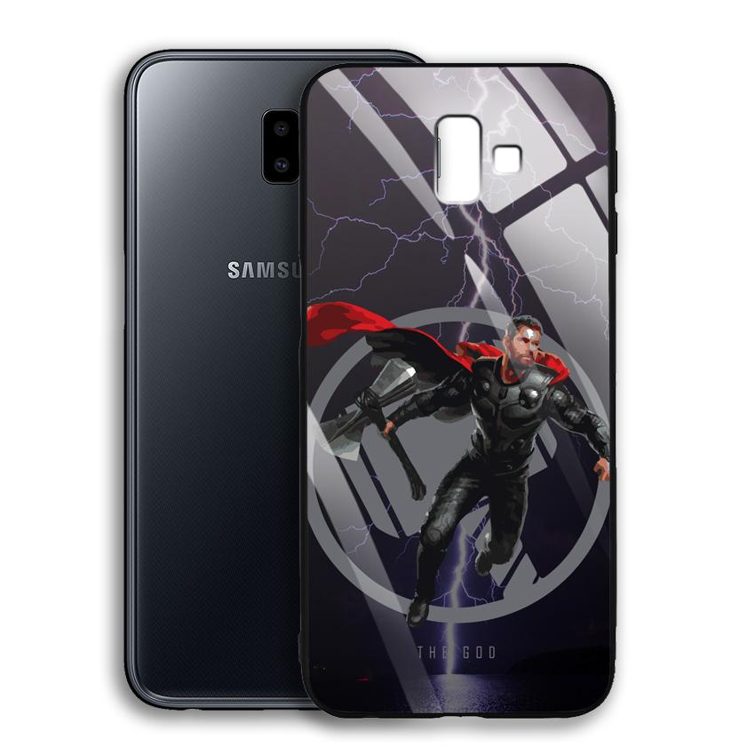 Ốp Lưng Kính Cường Lực cho điện thoại Samsung Galaxy J6 Plus - 03015 0540 GOD01 - Hàng Chính Hãng