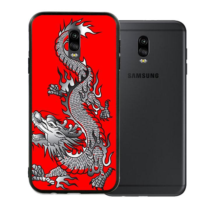 Ốp lưng viền TPU cho Samsung Galaxy J7 Plus - Dragon 04