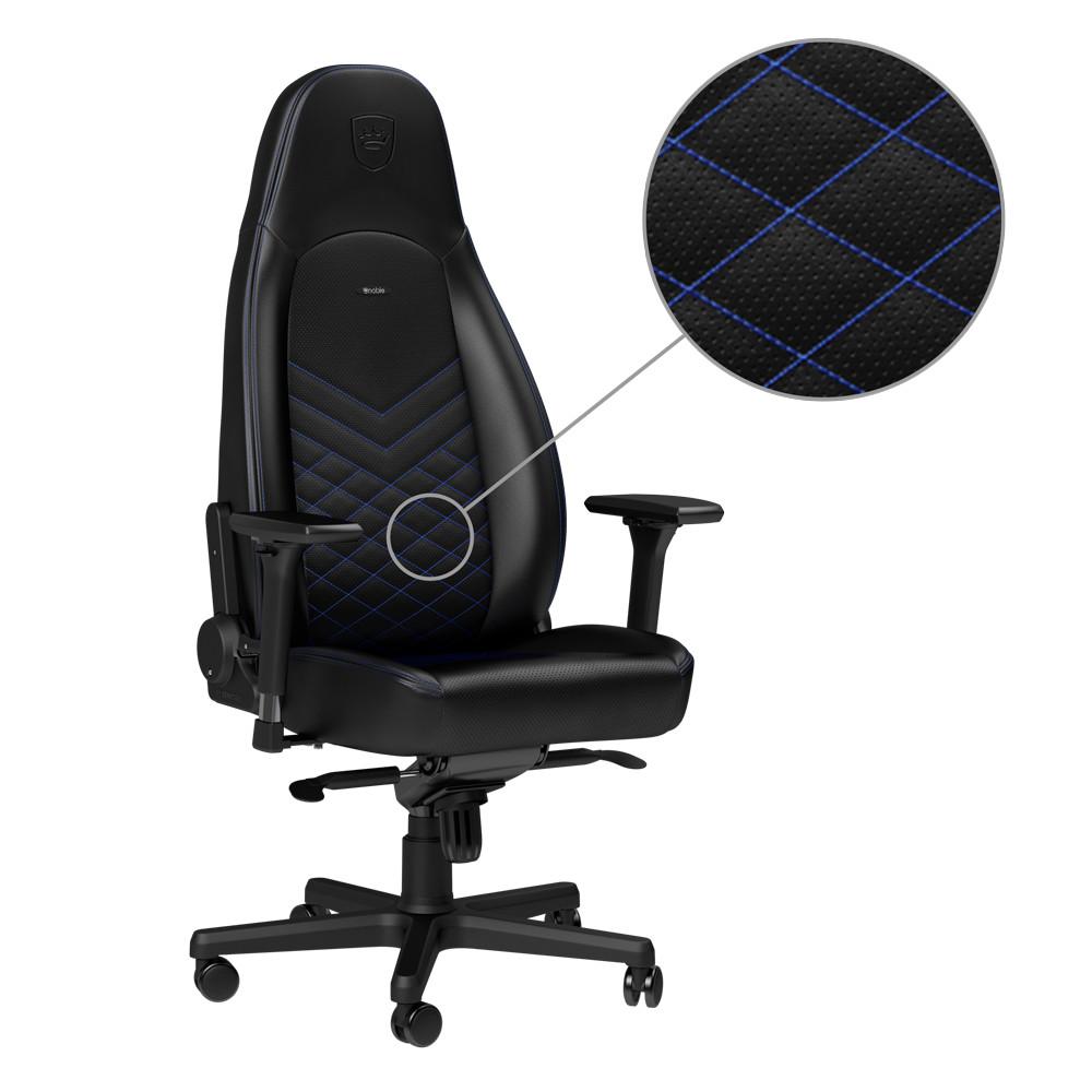 Ghế Gaming Noble Chair - Icon Series Black/Blue - Hàng chính hãng