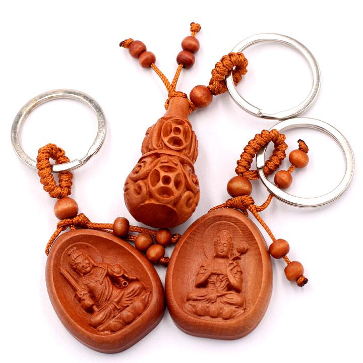 Combo 3 móc khóa Phật Bất Động Minh Vương - Đại Thế Chí - Hồ Lô Kim Tiền - may mắn, bình an