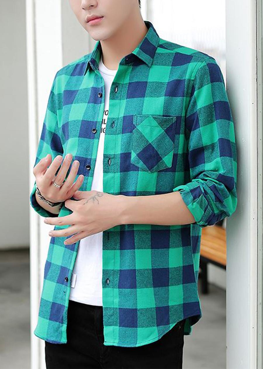 Áo sơ mi caro unisex 4Young phong cách Hàn Quốc SM13 màu mới