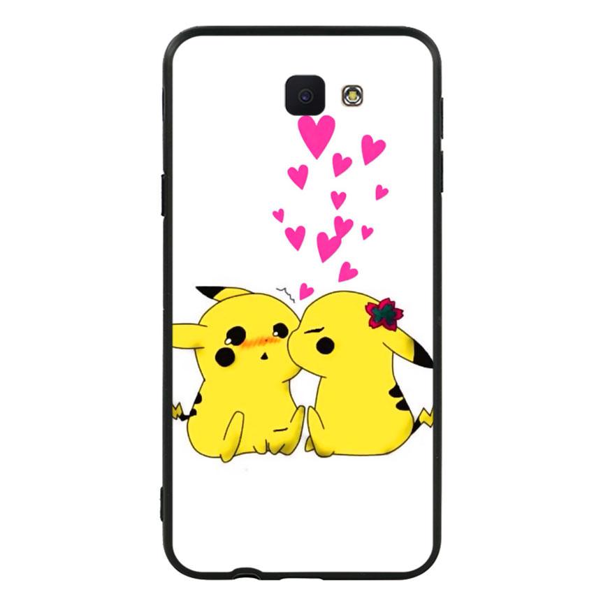 Ốp lưng viền TPU cho điện thoại Samsung Galaxy J5 Prime - Pikachu 02
