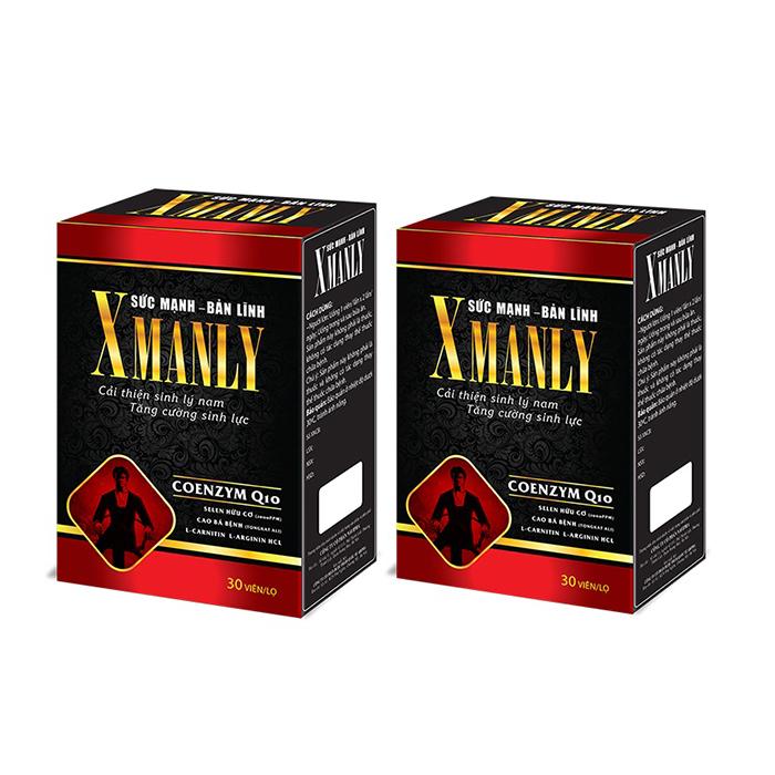 Combo 2 Thực phẩm chức năng Xmanly tăng cường sinh lý nam giới