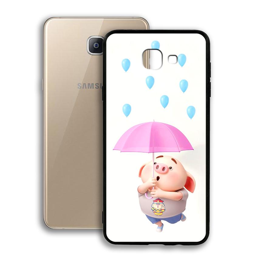 Ốp lưng viền TPU cho điện thoại Samsung Galaxy A9 / A9 Pro - 02021 0523 PIG26 - Hàng Chính Hãng