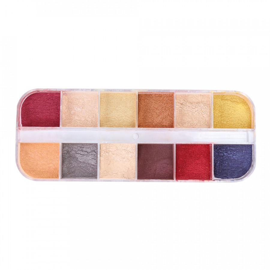 Cat Eye Powder Glitter Dust Magical 12 Colors/Box Chameleon Powder Gel