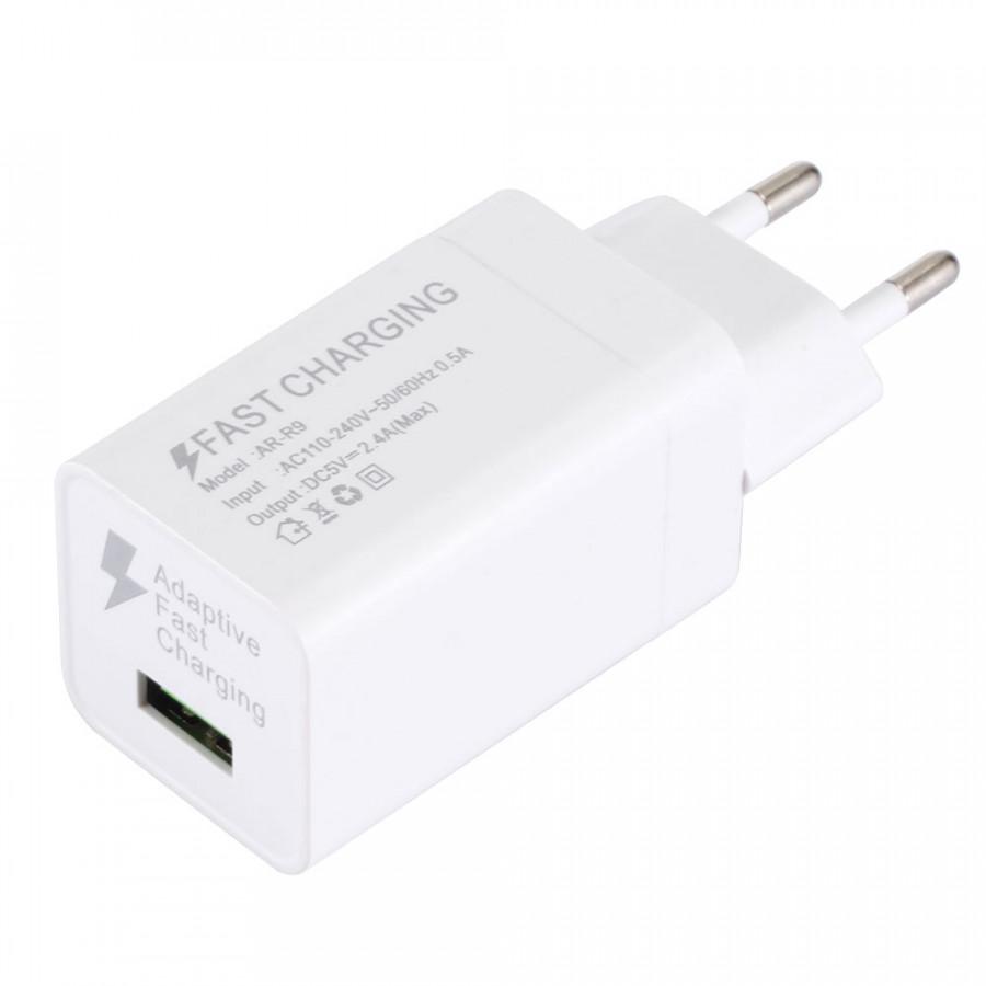 Cốc Sạc Nhanh USB 5V 2.4A Cho Iphone/Samsung