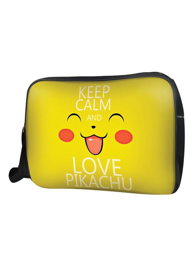 Túi Đeo Chéo Hộp Unisex Keep Calm And Love Pikachu - TCMA135