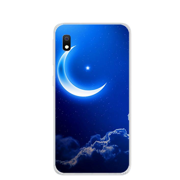 Ốp lưng dẻo cho điện thoại Samsung Galaxy A10 - 0220 MOON01 - Hàng Chính Hãng