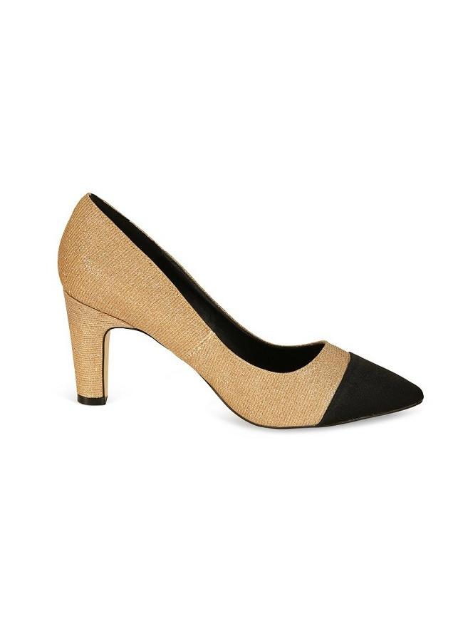 Giày cao gót nữ ánh kim Rhea 7cm RH1002BG - Màu Be