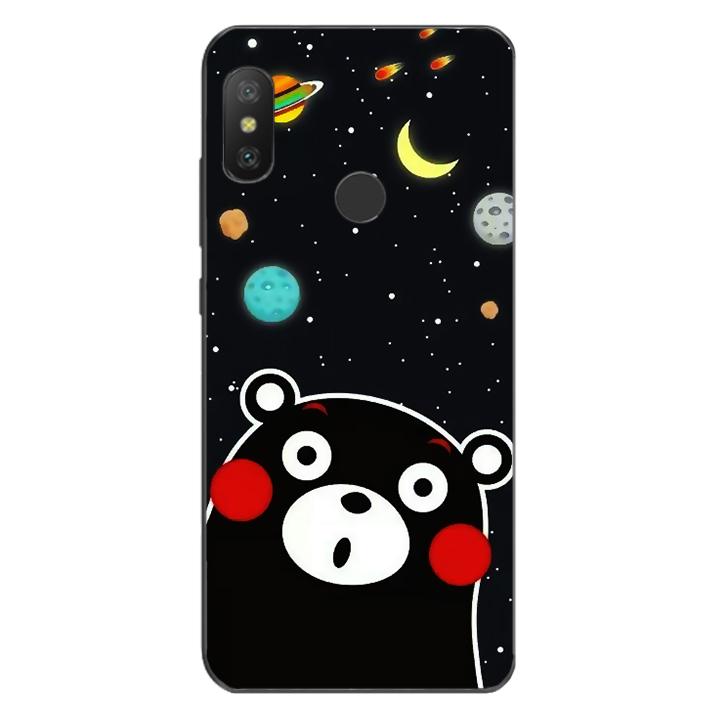 Ốp lưng dẻo Nettacase cho điện thoại Xiaomi Mi A2 Lite_0345 BEAR03 - Hàng Chính Hãng