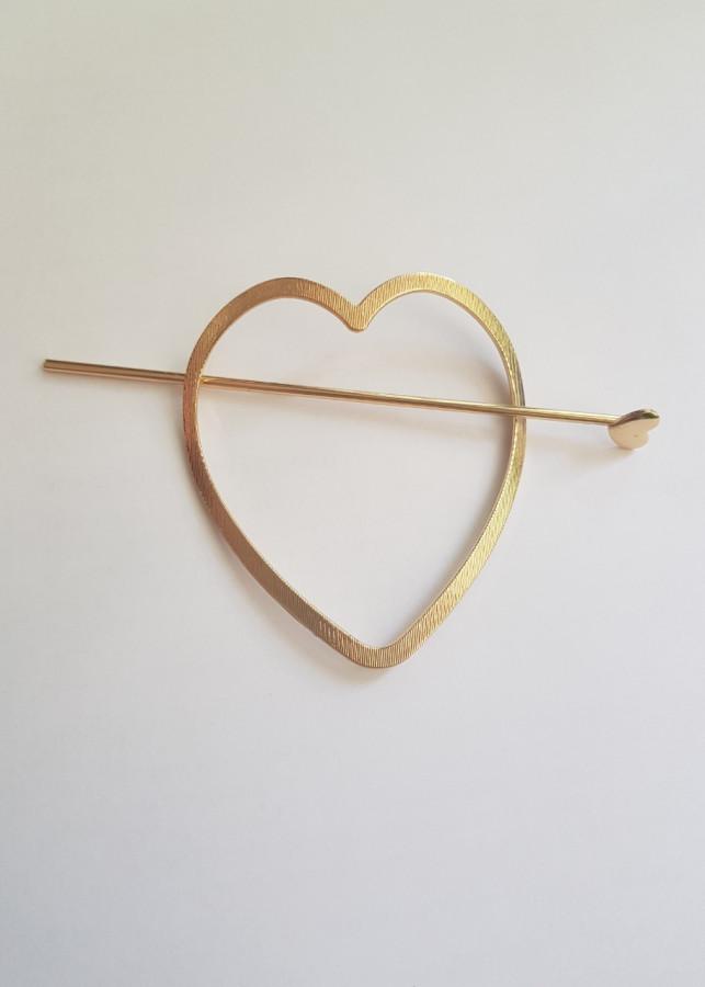 Kẹp tóc hình trái tim bản to KAH54
