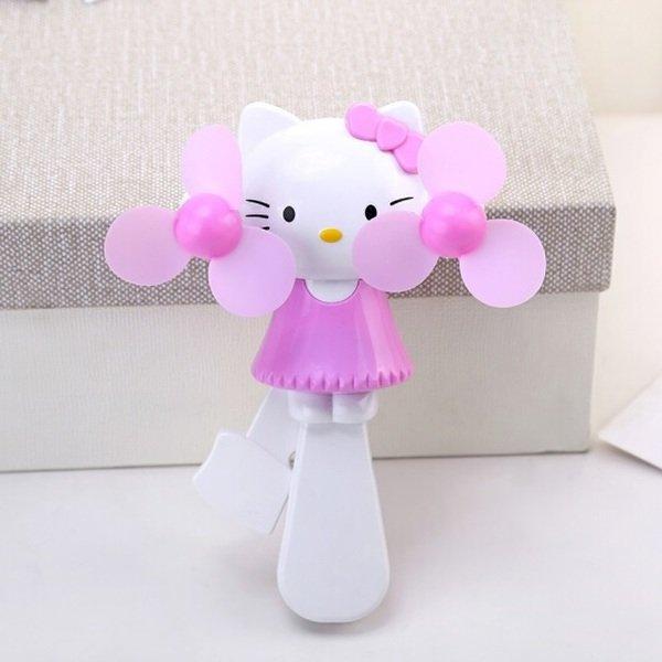 Quạt Mini Cầm Tay 2 Cánh Kitty