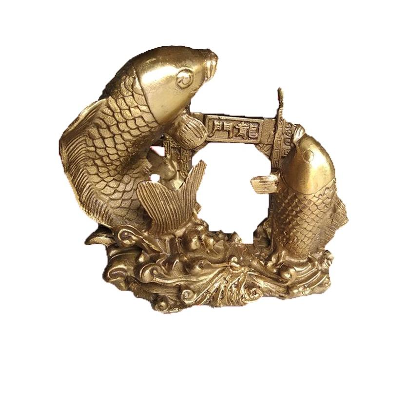 Tượng cá chép vượt vũ môn hóa rồng bằng đồng thau