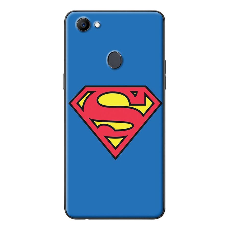 Ốp Lưng Dành Cho Oppo F7 - Logo Superman Nền Xanh